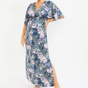 Jessica Simpson Maternity Floral Maxi Dress Small